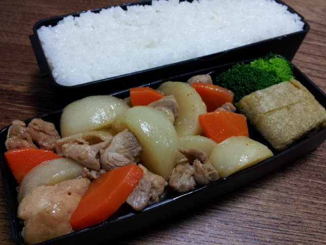鶏肉とカブのピリ辛煮