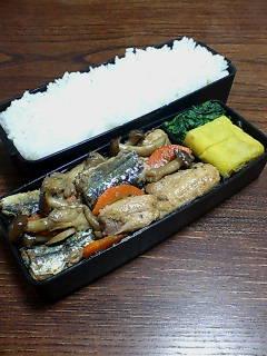 秋刀魚とキノコ