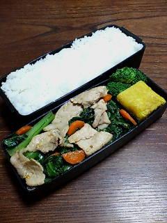 豚肉と小松菜