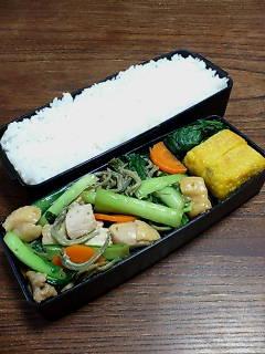 鶏肉と小松菜