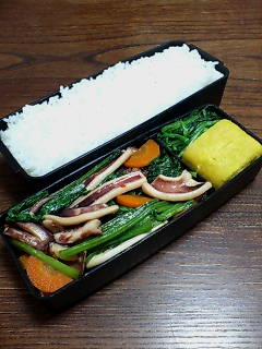 イカと小松菜