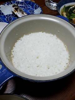 ル・クルーゼで米を炊く