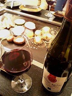鉄板焼きとワイン