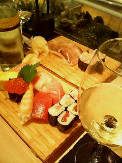 寿司屋で収穫祭