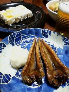 鰹の腹皮とピーナッツ豆腐